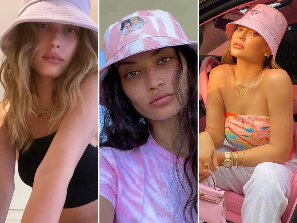 Celebrities wearing bucket hats. Pictures: Instagram