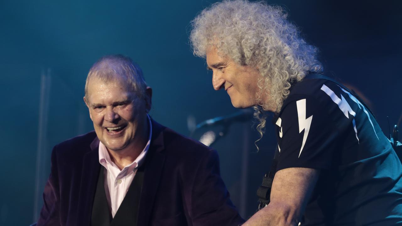 John Farnham and Brian May of Queen.