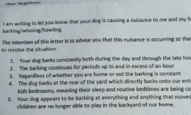 Perth mum loses it over bossy note from neighbour