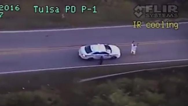 Graphic footage shows man being shot by police