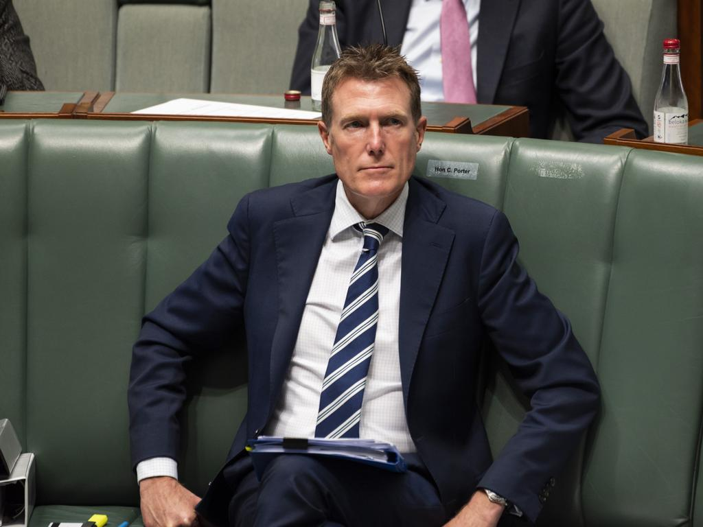 Industry Minister Christian Porter is the subject of historic rape allegations, which he strenuously denies. Picture: NCA NewsWire / Martin Ollman