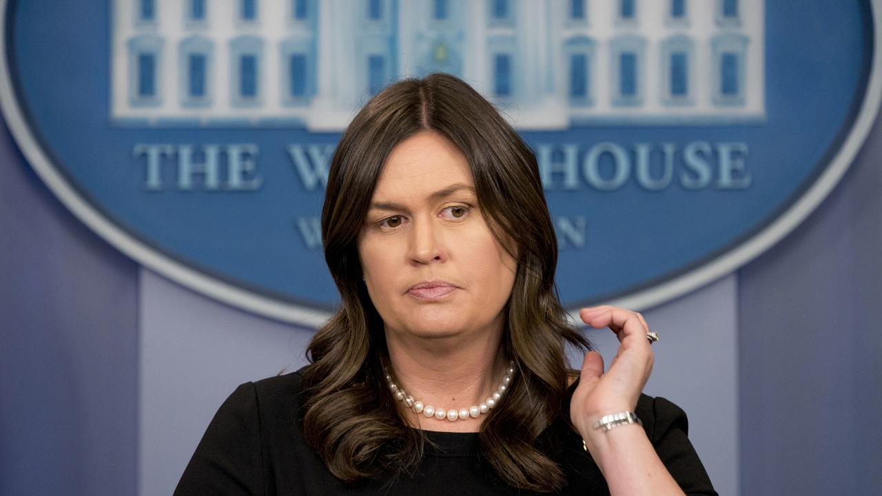 White House press secretary Sarah Huckabee Sanders defended President Donald Trump's reaction to Barr's comments, which he was accused of making all about himself.