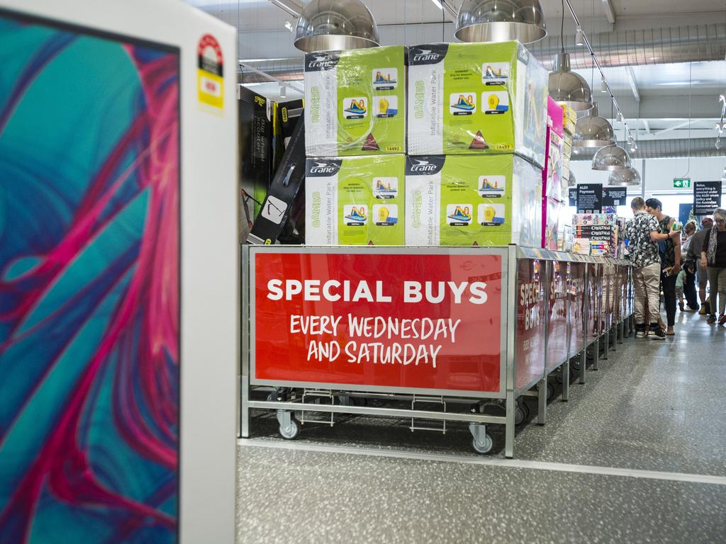 Aldi is famous for its special buys aisle, that has been copied by other retailers. Picture: Kevin Farmer