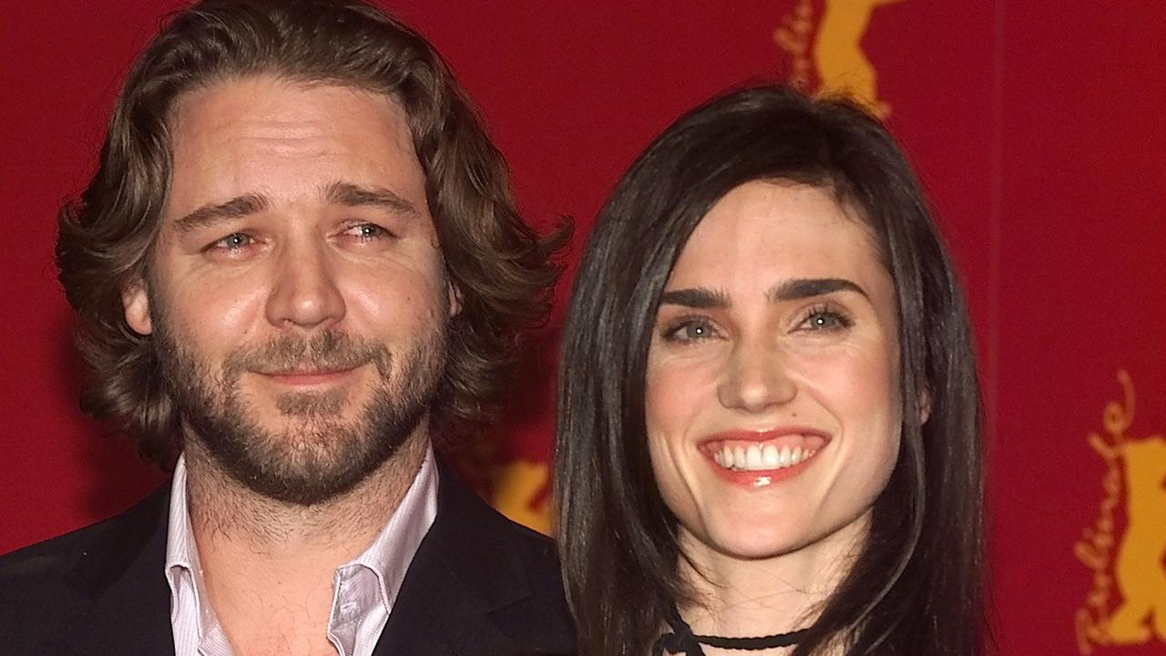 Crowe in 2002 with his A Beautiful Mind co-star Jennifer Connelly.