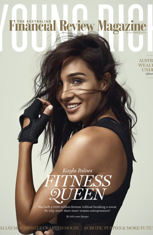 Fitness entrepreneur Kayla Itsines and her fiance Tobi Pearce took out the fifth and sixth places. Picture: Financial Review