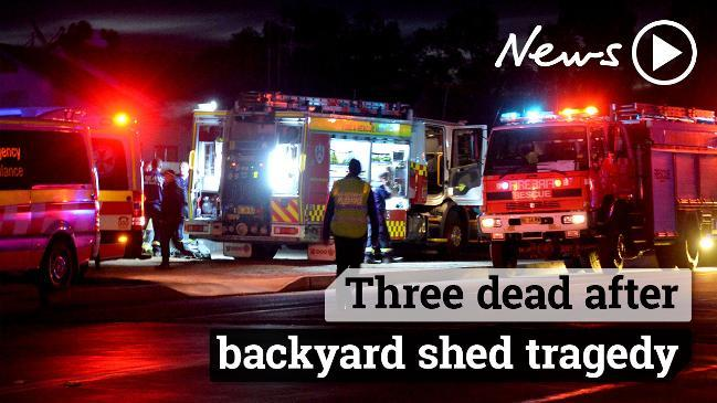 Three dead after backyard shed tragedy