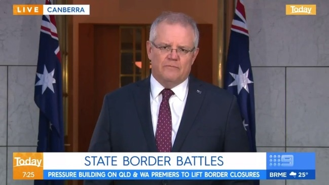 PM slams premiers for closing borders (Today Show)