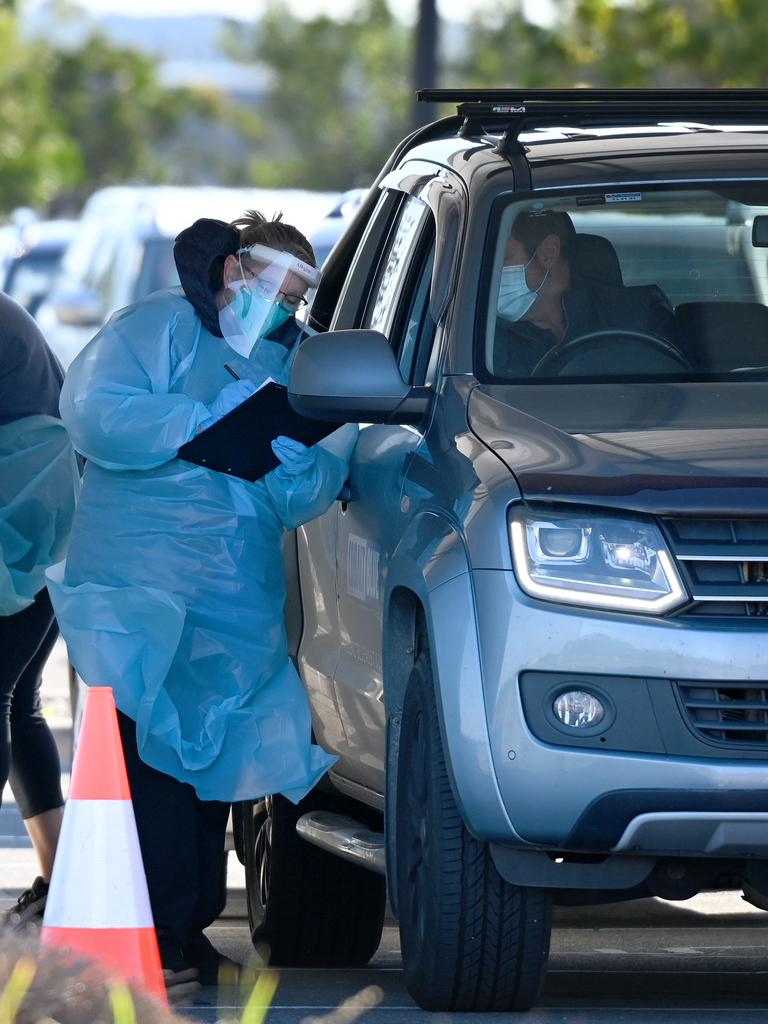 South Australia's Modbury cluster has grown to 22 linked infections after a man in his 20s tested positive to the virus. Picture: NCA NewsWire / Naomi Jellicoe