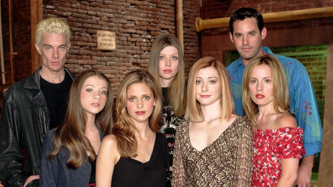 Marsters (far left) with Buffy co-stars.
