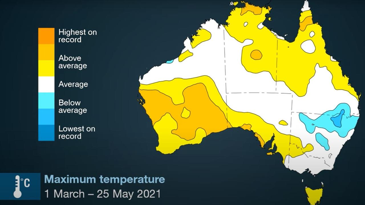 NSW saw its wettest winter for some time. Picture: BOM.