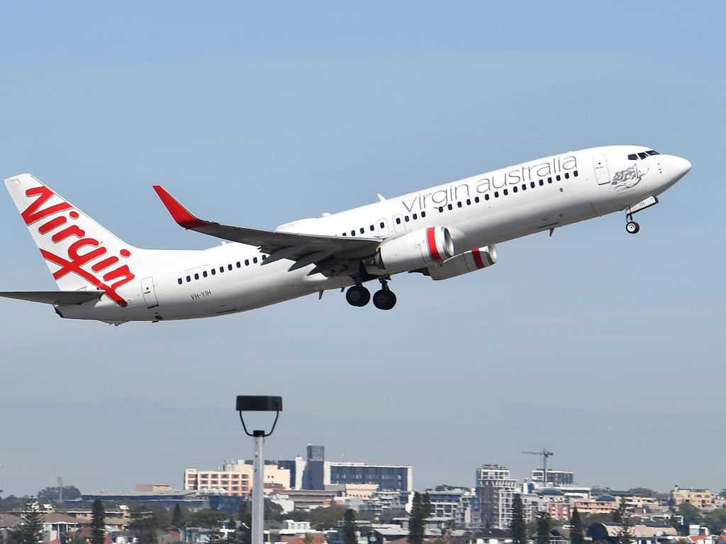 Virgin Australia has been hard-hit by the COVID-19 crisis. Picture: Saeed Khan/AFP