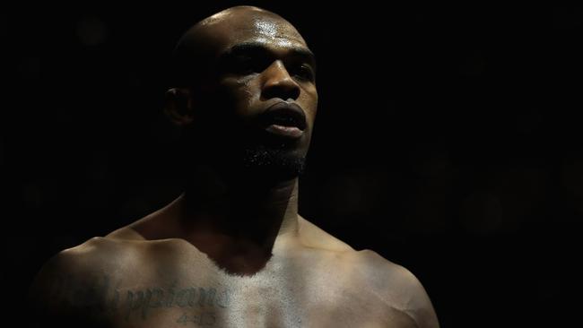Jon Jones before fighting Daniel Cormier at UFC 214.