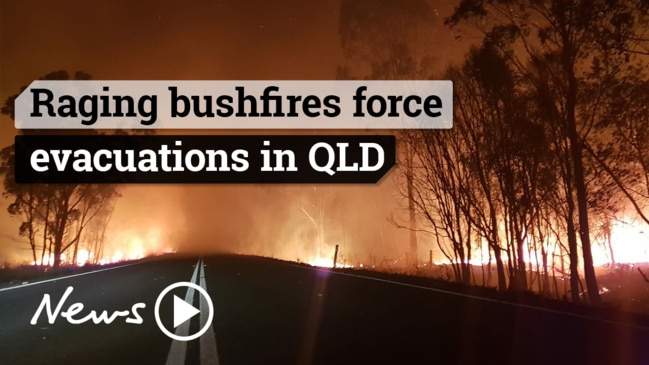 Raging bushfires force more evacuations in central Queensland