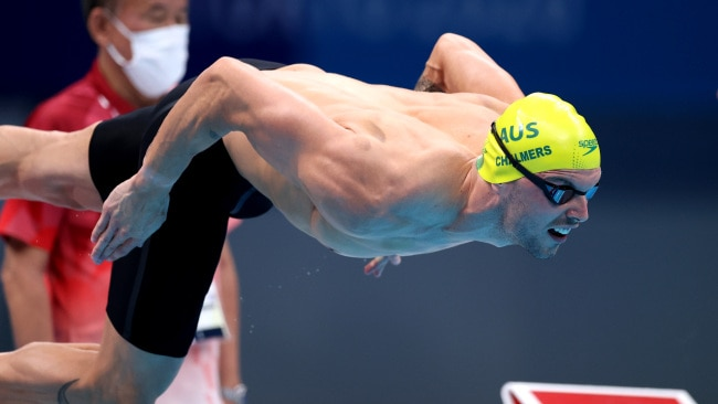 Kyle Chalmers narrowly missed out on defending his Olympic title in the men's 100m freestyle final. Photo: Al Bello/Getty Images