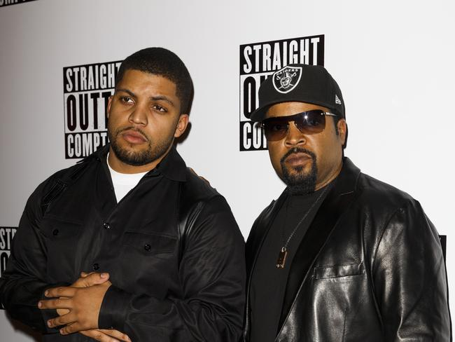 Family ... O'Shea Jackson Jr and Ice Cube attend a special screening of Straight Outta Compton on August 20, 2015 at the Picturehouse Central in London, England. Picture: Tristan Fewings/Getty Images