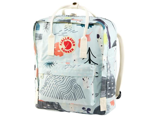 STATEMENT PIECE – Kånken Art backpack, $169.95 Designed in 1978, originally to help straighten the crooked spines of Swedish schoolchildren, the Kånken bag is instantly recognisable, like the Chuck Taylor of backpacks. This limited-edition print by Swedish artist Moa Hoff has just been launched for winter and, as well as helping you to stand out from the crowd, a portion of sales from Kanken Art products will go to the Arctic Fox Initiative, helping to fund three nature-protection projects each year. Available at Fjall Raven