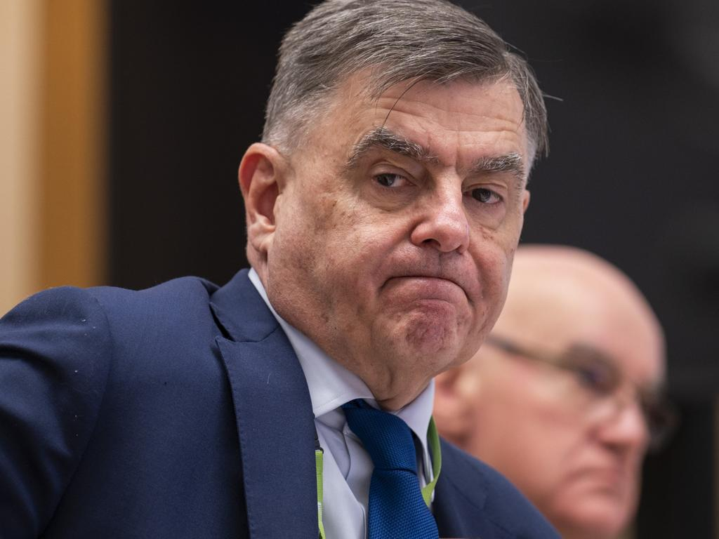 Brendan Murphy defended the quarantine system, but conceded outbreaks were 'upsetting for people like Ms Halton'. Picture: NCA NewsWire / Martin Ollman