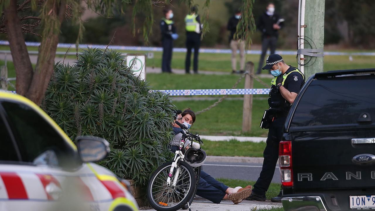 The man was shot dead by police after repeatedly stabbing a woman who was known to him. Picture: Ian Currie
