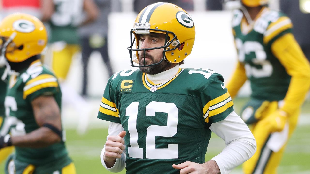 Aaron Rodgers is determined to leave the Packers. (Photo by Dylan Buell/Getty Images)