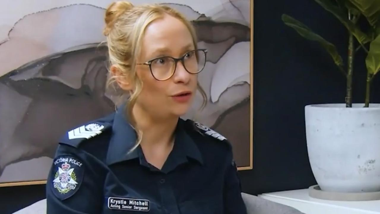 Acting Sergeant Krystle Mitchell takes part in an interview via Discernable