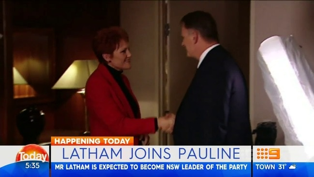 Mark Latham is expected to announce he's joining One Nation (Today Show)
