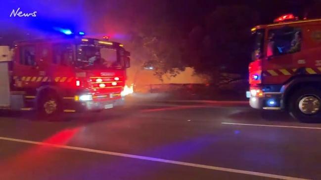 Car fire on Port Wakefield Rd