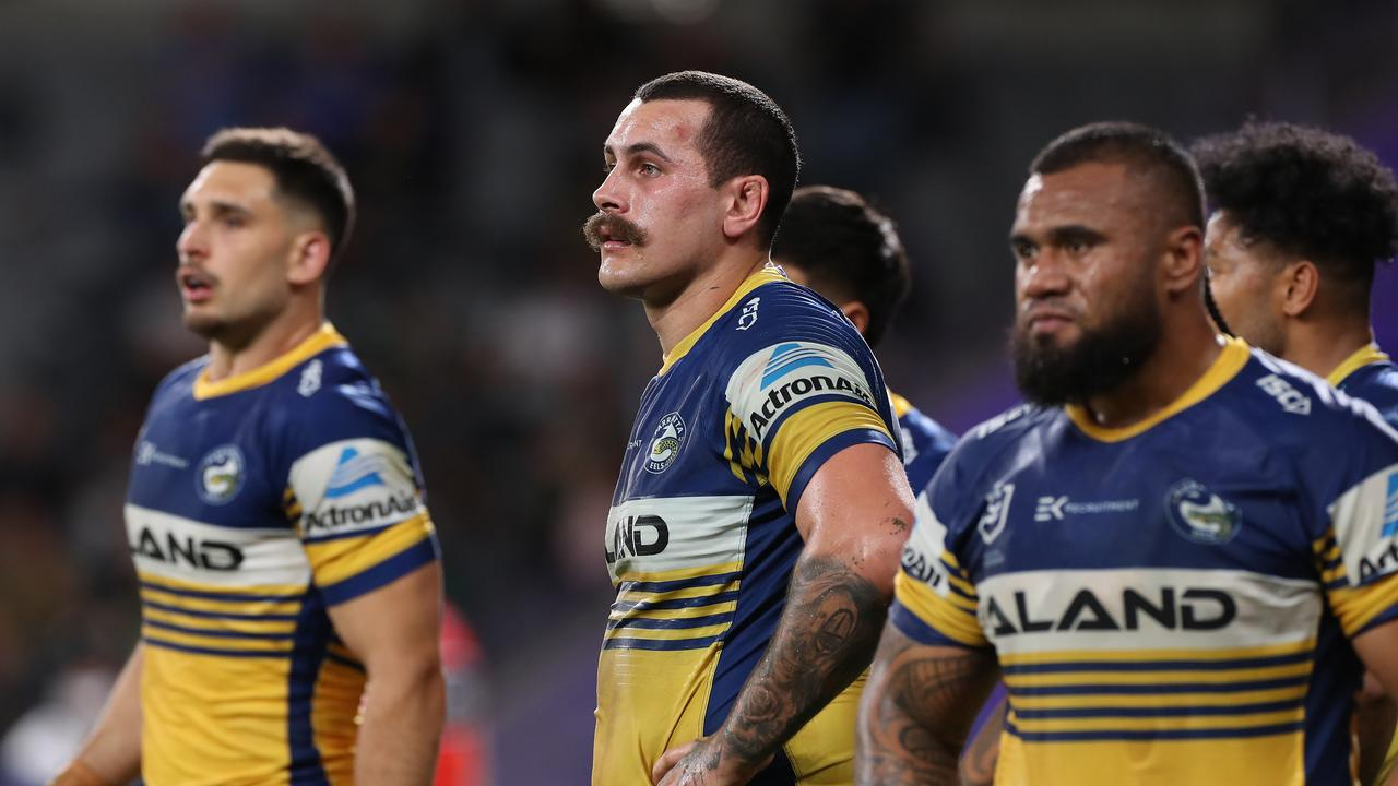 The Eels looks on after conceding a try