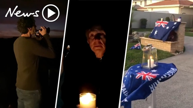 Aussies line their streets to commemorate a 'different' Anzac Day