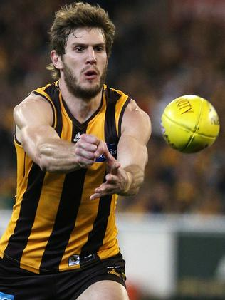 Grant Birchall will be playing in his fourth AFL Grand Final on Saturday. Picture: George Salpigtidis