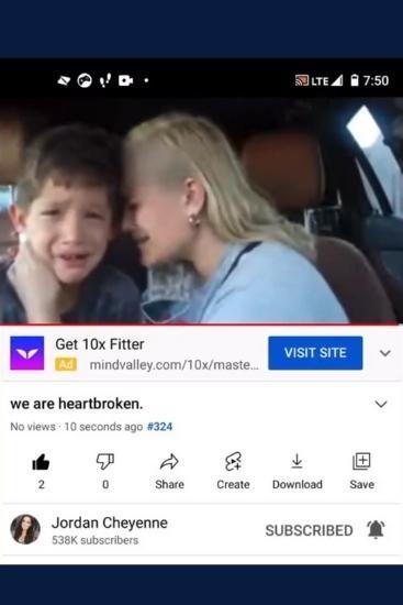 YouTuber Jordan Cheyenne deletes all social media after backlash over crying son video