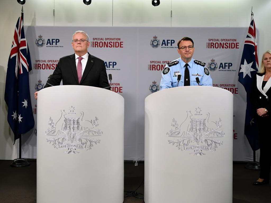 AFP commissioner Reece Kershaw called for parliament to urgently pass the bills. Picture: NCA NewsWire/Joel Carrett