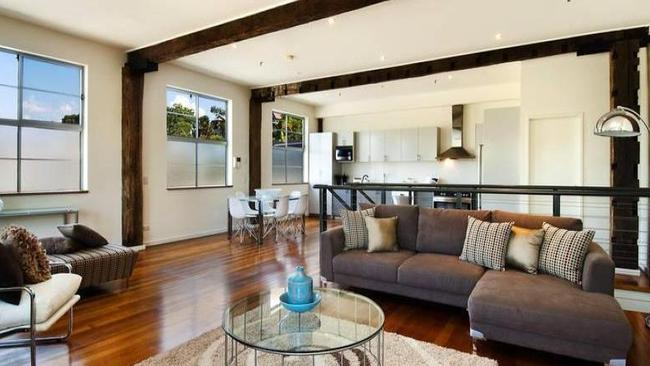 The 1/68-70 White St, Lilyfield home was part of a warehouse conversion. Picture: Supplied