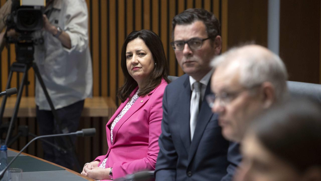 QLD Premier Annastacia Palaszczuk and Victorian Premier Daniel Andrews. Picture: NCA NewsWire / Gary Ramage