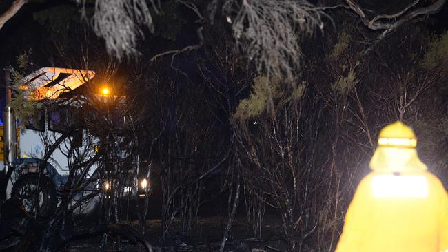 Firefighters will be in the area cleaning up the trees for some time. Picture: Lawrence Pinder
