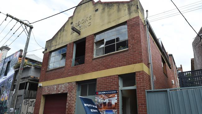 The tri-level Fitzroy warehouse conversion smashed its reserve price. Picture: Tony Gough