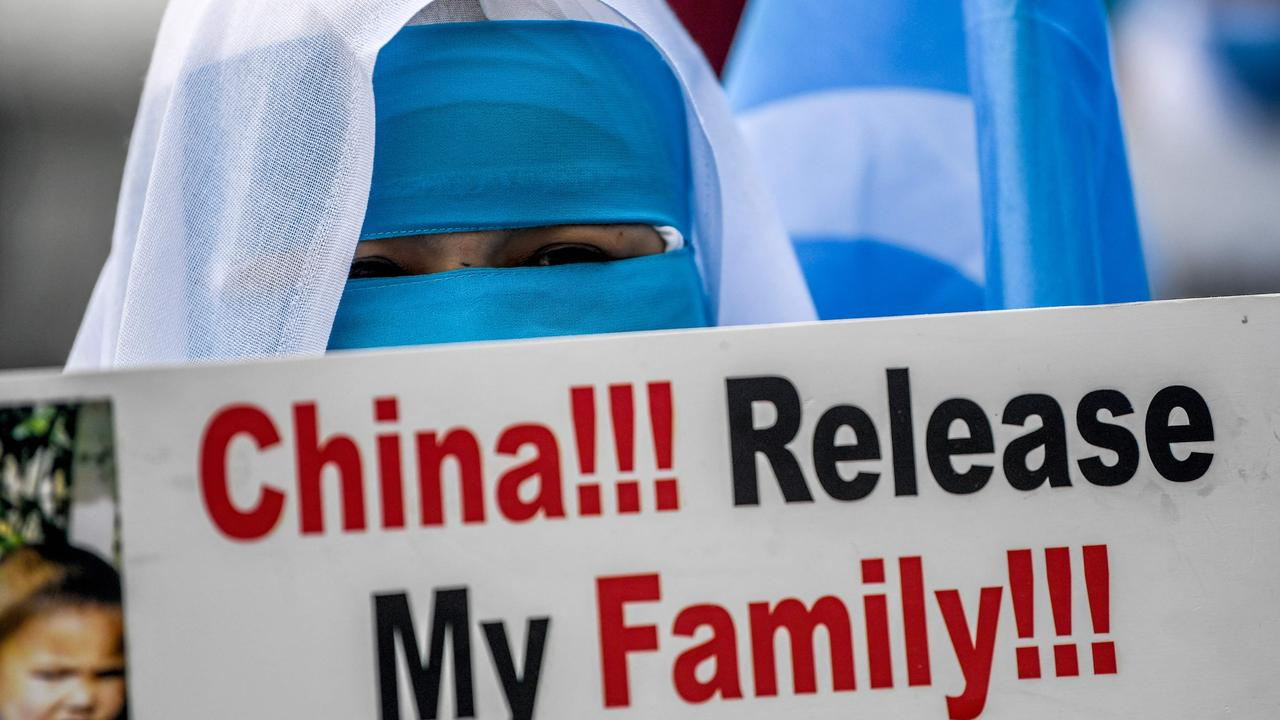 China has been detaining Uighurs in 're-education camps'. Picture: Ozan Kose/AFP