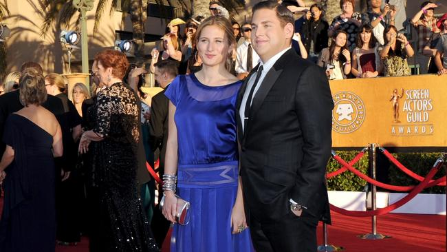 Jonah Hill and Ali Hoffman at the 18th Annual Screen Actors Guild Awards in 2012.