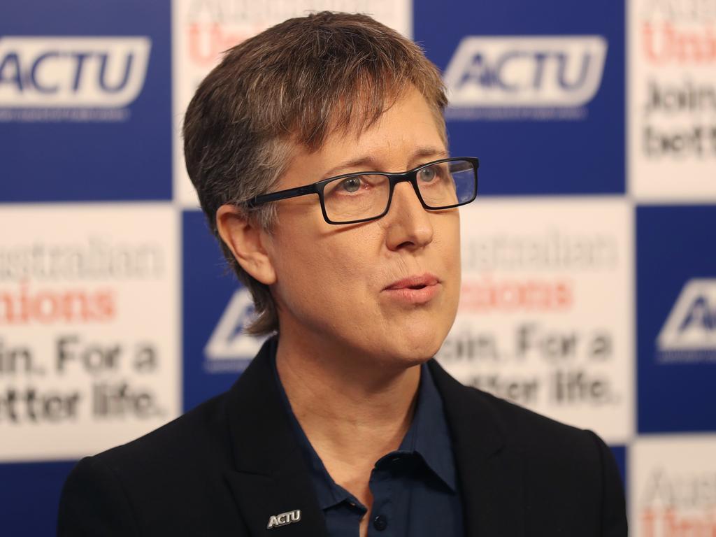 ACTU secretary Sally McManus has labelled casualised work a 'virus' exposing Australia to COVID-19. Picture: AAP Image David Crosling