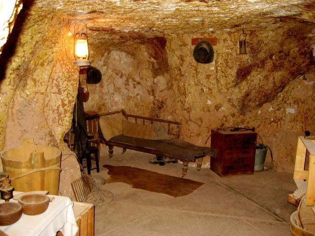 Simple interiors for underground living.