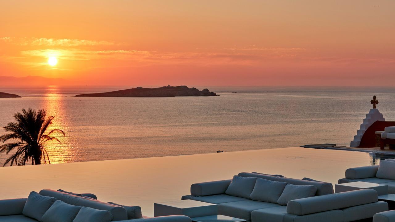 Views from Bill & Coo hotel, Mykonos.