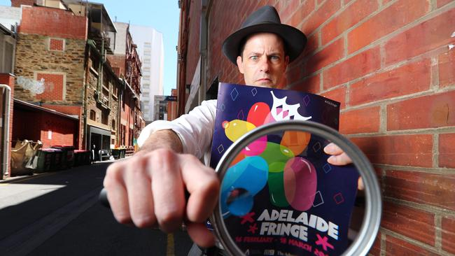 Wise-cracking paranormal detective Dirk Darrow will be back among the 1223 shows in this year's Adelaide Fringe. Picture: Tait Schmaal
