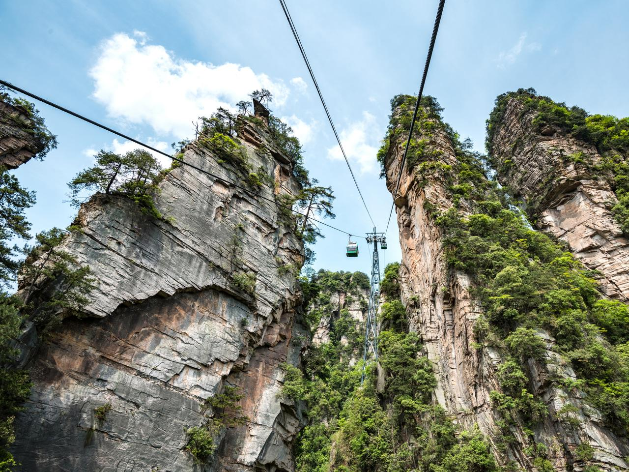 cable cars up to the avatar mountains