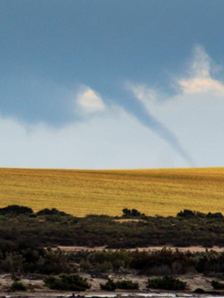 No one was injured when the tornado rolled through Victoria. Picture: Severe Weather Australia.