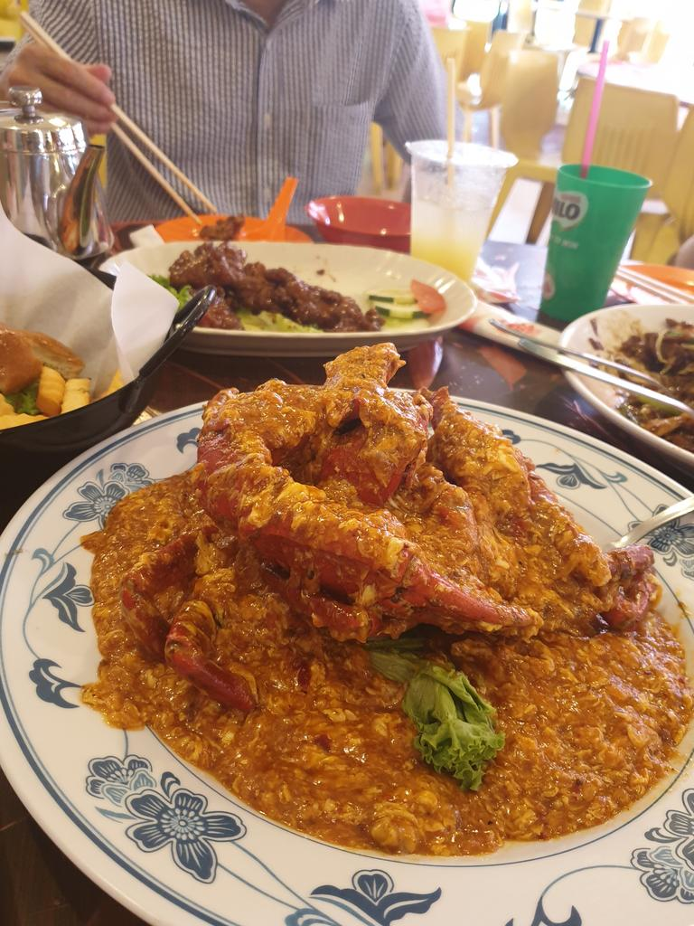 It wouldn't be a visit to Singapore without a helping of chilli crab.