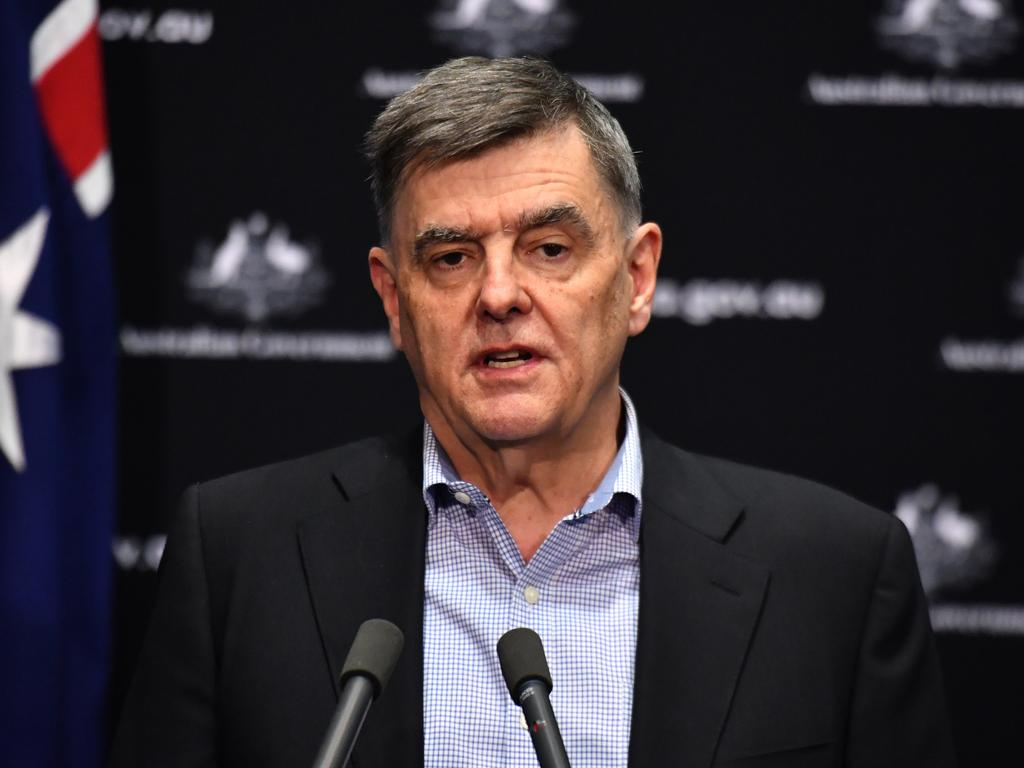 Chief medical officer Brendan Murphy has urged Aussie to download the app immediately. Picture: AAP Image/Mick Tsikas