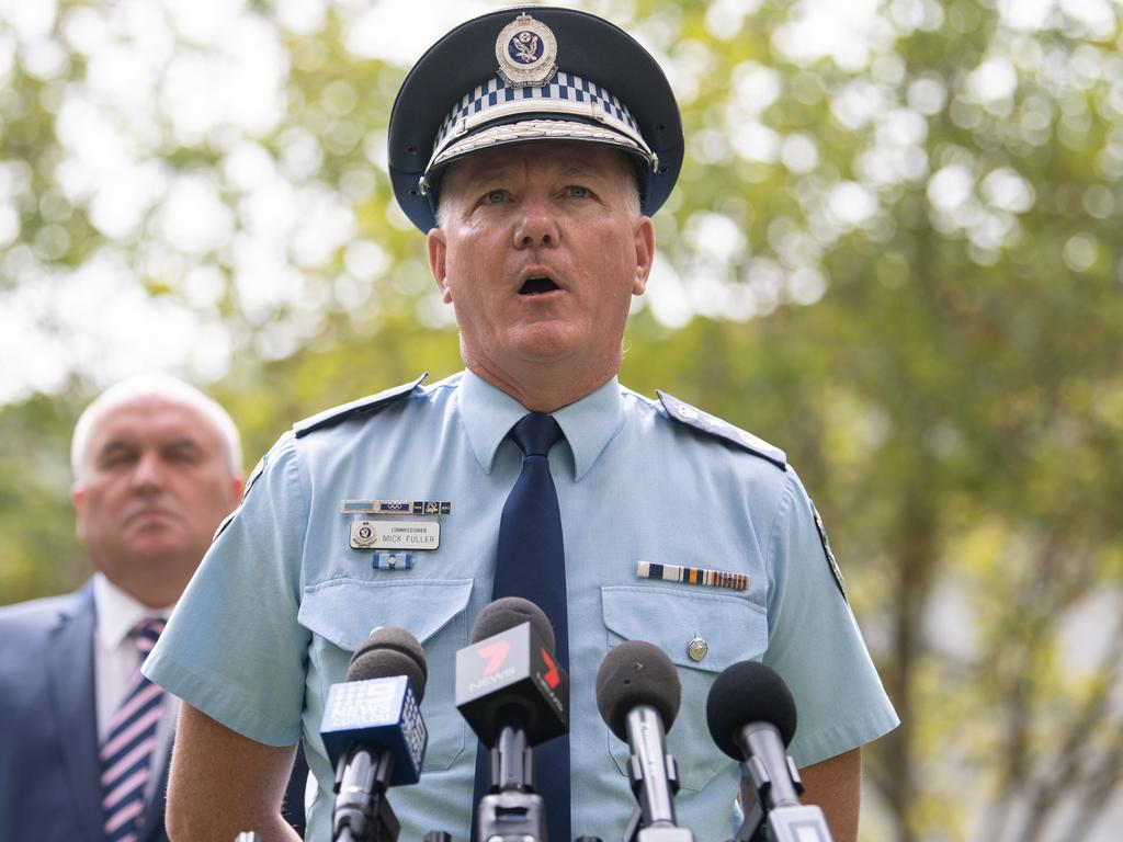 NSW Police Commissioner Mick Fuller speaks to the media during a press conference to provide an update on the COVID-19. Picture: James Gourley/AAP