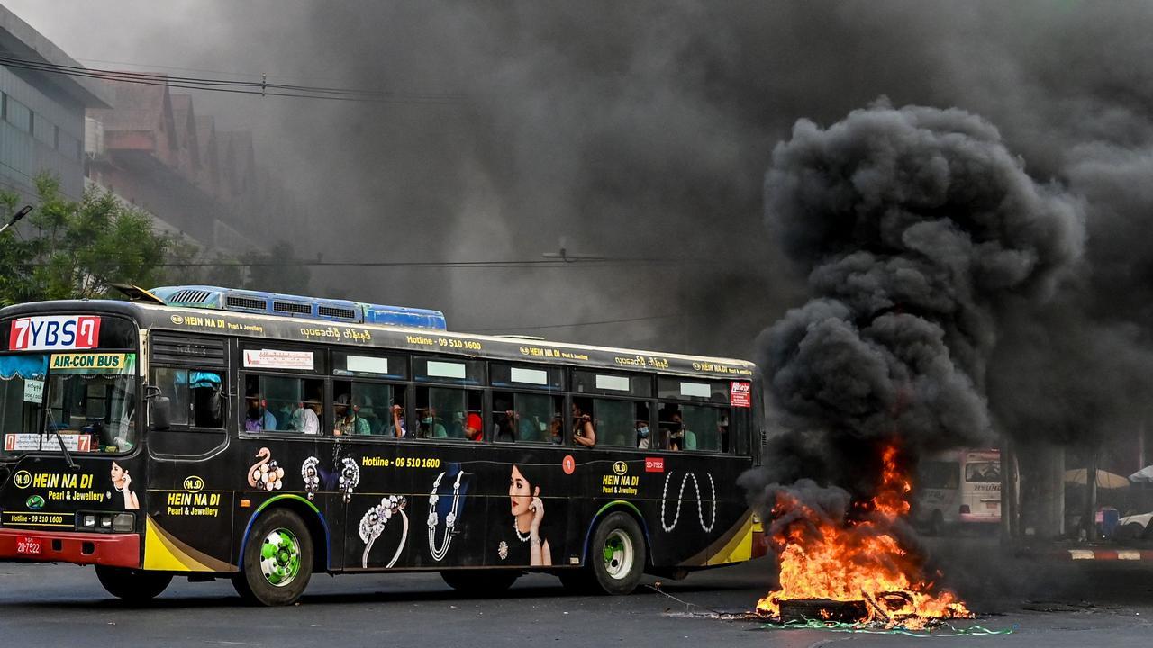 Myanmar has been rocked by nine weeks of protests. Picture: STR/AFP