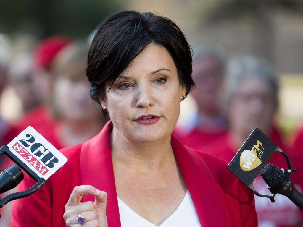 Jodi McKay announces her bid to lead NSW Labor. Picture: AAP Image/Paul Braven