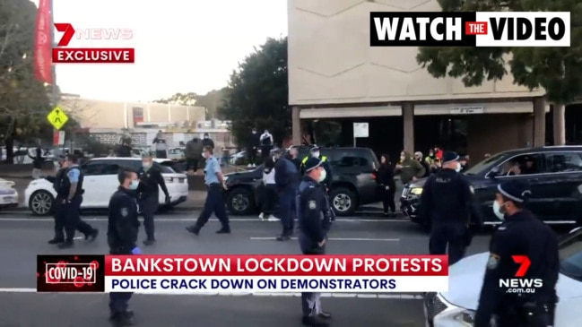 Arrests made during lockdown protests in Sydney's south-west (7 News)