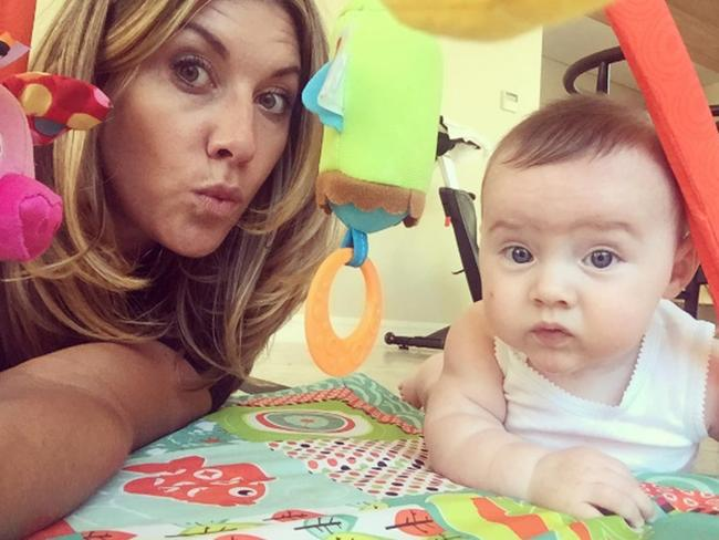 Talitha Cummins with her baby son, Oliver. Picture: Talitha Cummins/Instagram